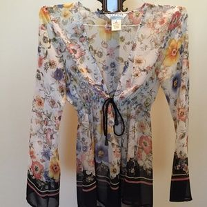 John Paul Richard flowered blouse
